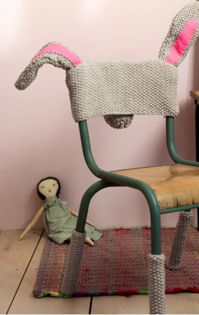 When Chairs Dress Up As Bunnies ... This Is Knitting Cosplay At Its Best!