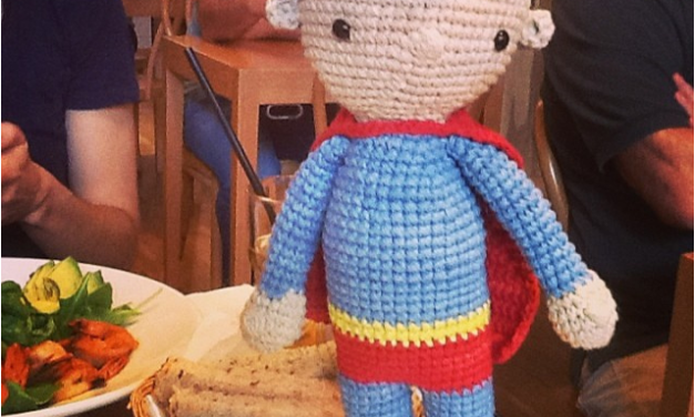 It's a Bird! It's a Plane! It's a Crochet Superboy!