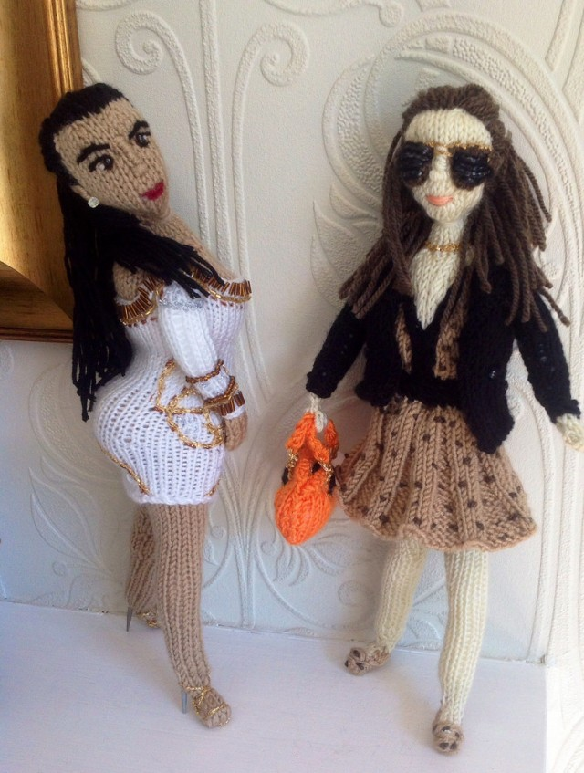 Knit Kim Kardashian Meets Knit Pippa Middleton, Made By The Knitting Witch