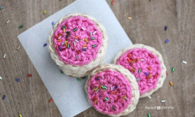 Frosted Crochet Cookies by Repeat Crafter Me