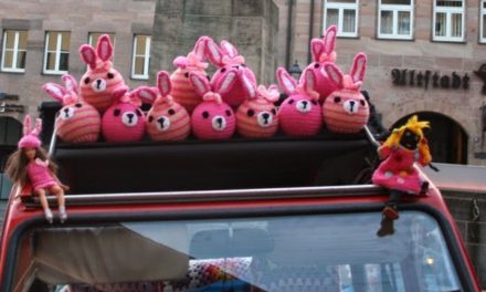 You Find A Gang Of Crochet Pink Bunnies In The Garden, What's Next?