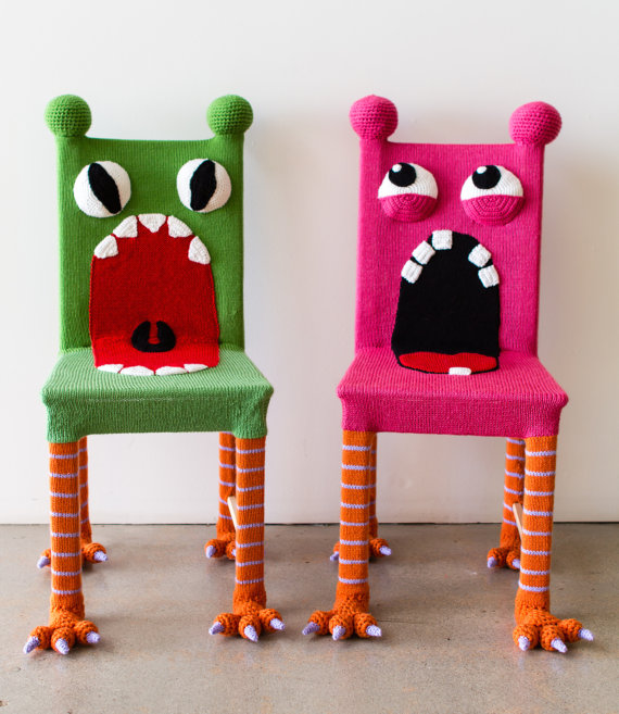 Get a custom whimsical monster chair by KnitsForLife