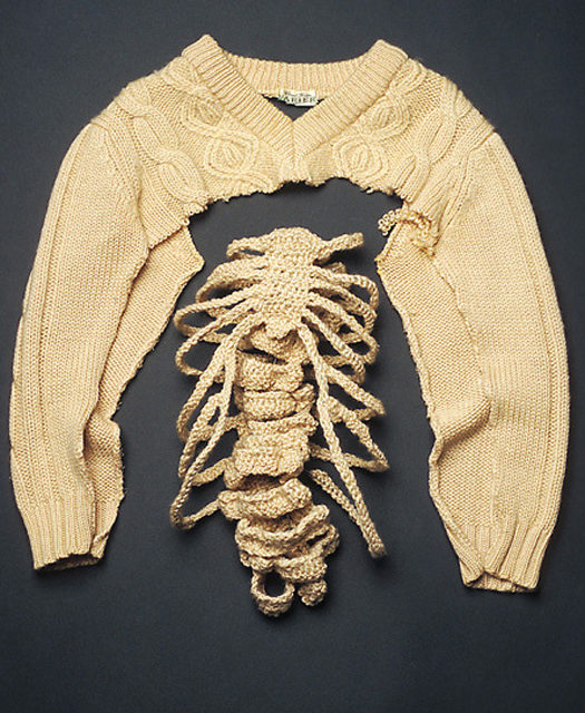 Creepy Rib Cage Sweater Hack