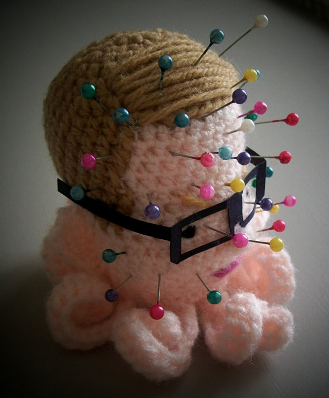She Crocheted a Michael Gove Voodoo Pincushion