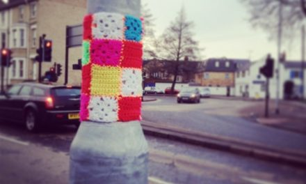 Yarn Bombing the Old Neighborhood …