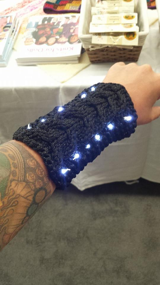 I Wove LED Lights Into My Knitted Wristers!