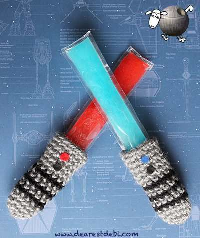 Crochet an Awesome Lightsaber Freezie Cozy - Get The Pattern!