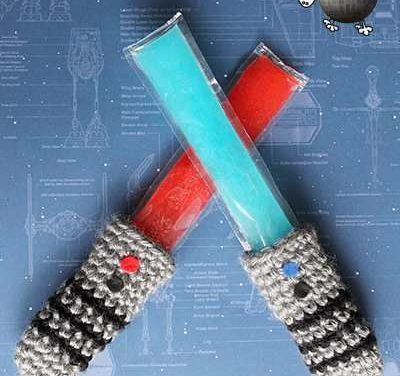 Crochet an Awesome Lightsaber Freezie Cozy