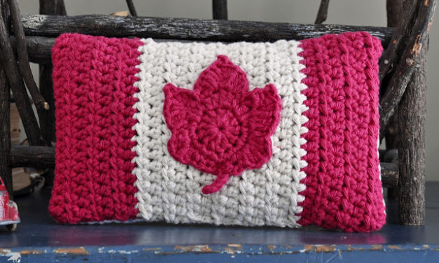 Happy Canada Day! Celebrate With a Crazy Cool Crochet Flag Pillow!