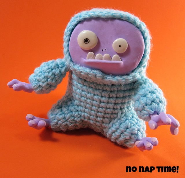 Grumpy Yeti - an Experimental Combination of Polymer Clay and Crochet