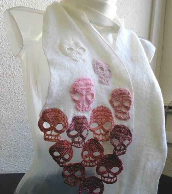 Skulls Scarf by Lilith Etih