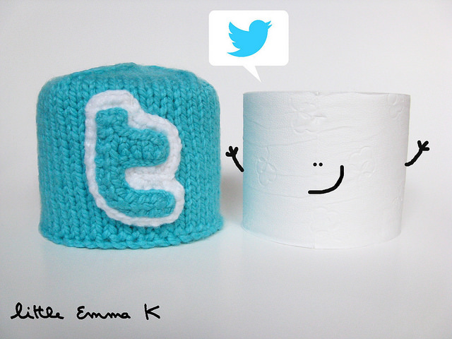 Twitter Toilet Paper Cozy by Little Emma K