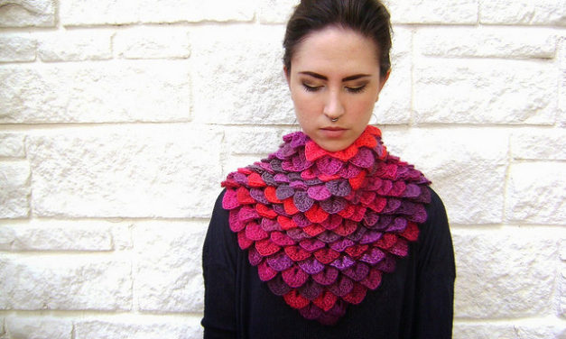 Gorgeous Crochet Crocodile Stitch Shawl – Get the Pattern!