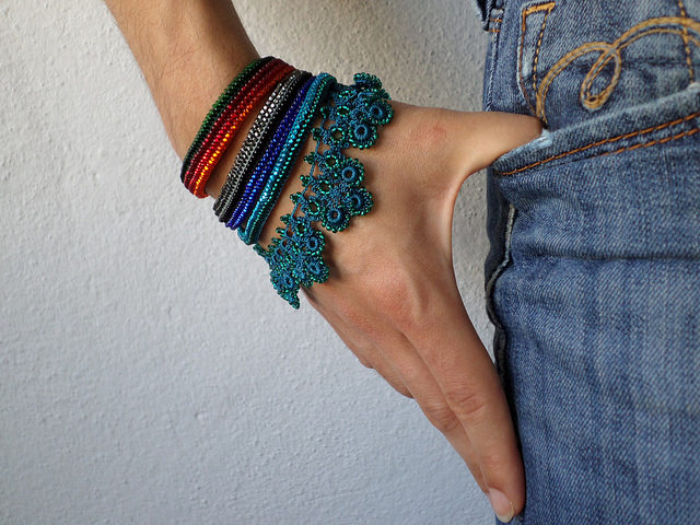 Puya Berteroniana: beaded bracelet by Irregular Expressions