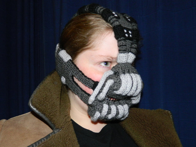 Crocheted Bane Mask (The Dark Knight Rises, 2012) -- Made by