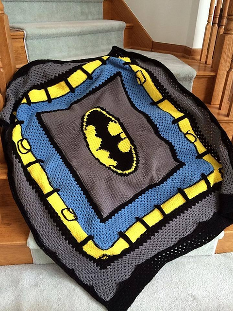 Batman blanket by Nicole Pellegrino.