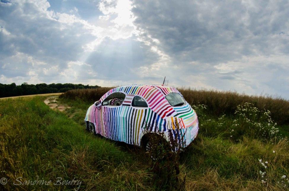 Sandrine Boutry's #SecretStripyProject is … a car!