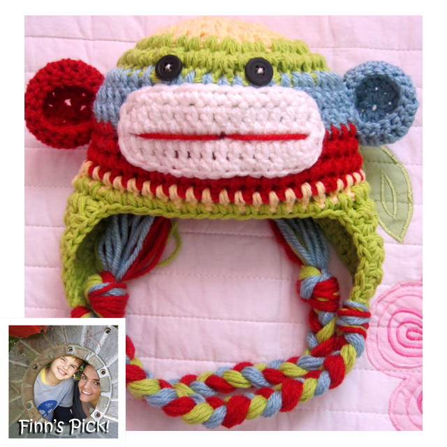 Finn's Pick: Sock Monkey Hat https://wp.me/pjlln-2Cs