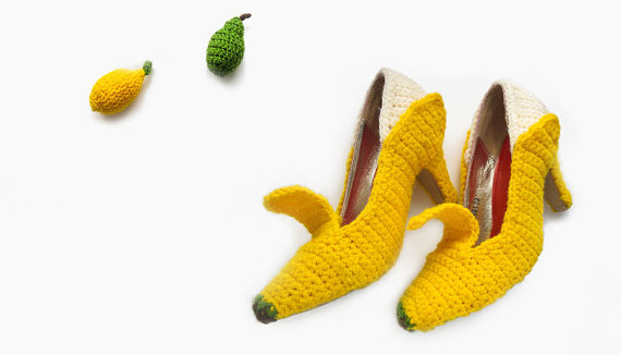 Crochet Banana Peel Heels – You Can Really Wear Them!