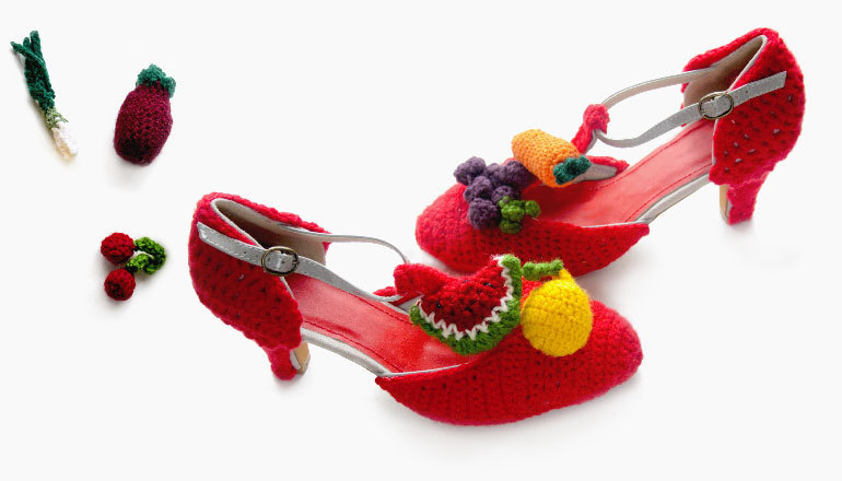 Crochet Banana Peel Heels - You Can Really Wear Them!