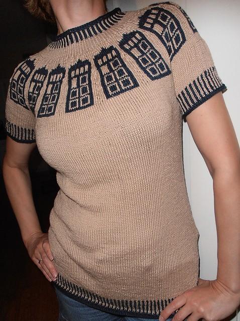 Tardis-inspired sweater