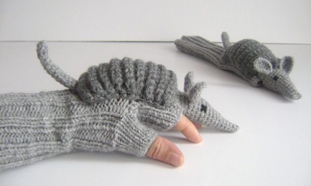 Texas Road Kill Gloves … Oops, I Mean … Armadillo Gloves!