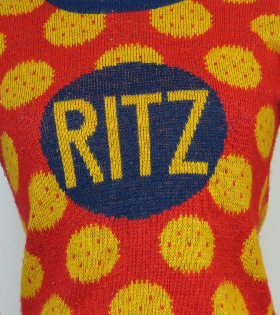 That's One Way of Puttin' On The Ritz! Vintage Ritz Cracker Sweater …
