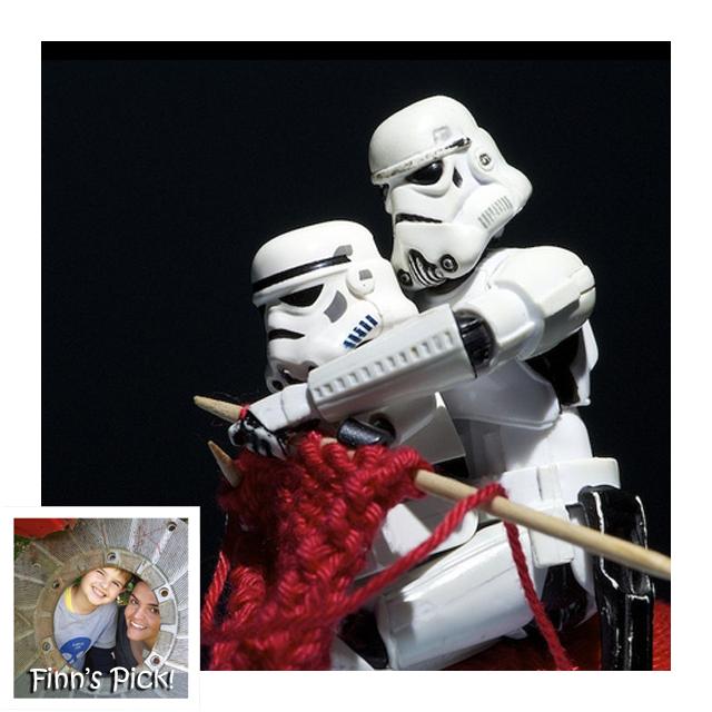 Finn's Pick: Stormtroopers Knitting!