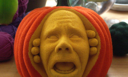 Meet the felted pumpkin who won Halloween!