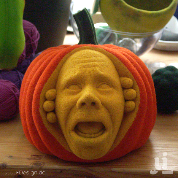 Meet the Felted Pumpkin Who Won Halloween!