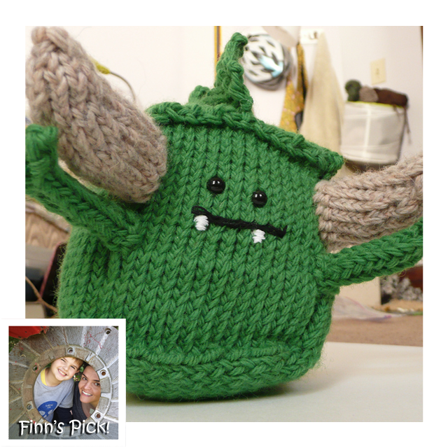 Adorable Knitted Monster Block, Makes a Great Baby Gift – Get The Pattern!