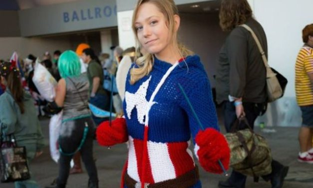 Avengers Assemble! This knit Captain America Costume is unbelievable!