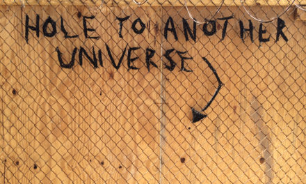 The hole to another universe spotted on Myrtle Avenue in Brooklyn!