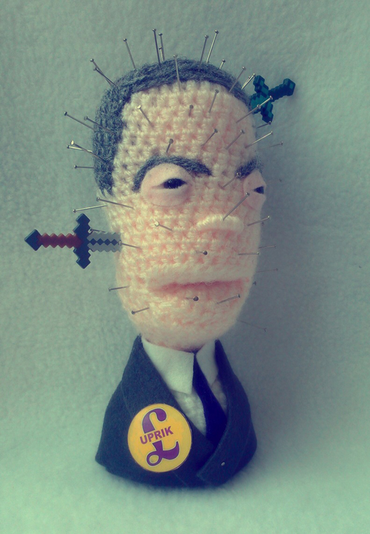 Nigel Farage. One controversial politician, two crafts - which do you like best?