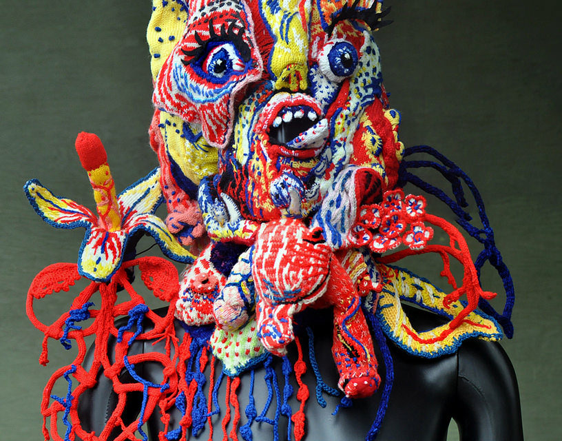 Knitted Mask – a Collaboration Between Brutal Knitting's Tracy Widdess & Stéphane Blanquet