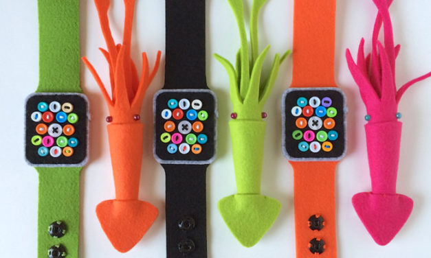 Party Accessories: Low-Tech Apple Watches & Squid Brooches