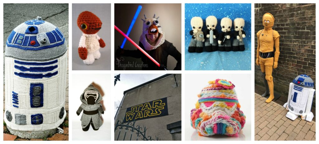 Happy #StarWars Day! May the Fourth Be With You When You Knit and Crochet ... 40+ Projects!