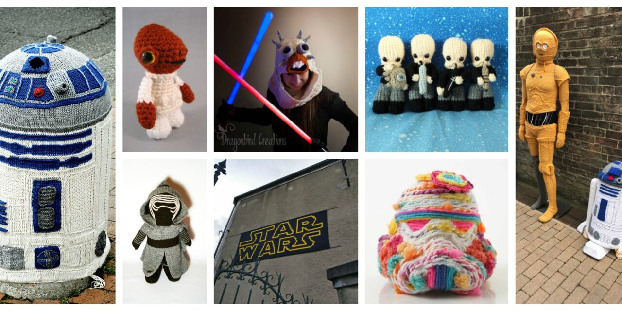 Happy #StarWars Day! May the Fourth Be With You When You Knit and Crochet … 40+ Projects To Draw Yarnspiration From!