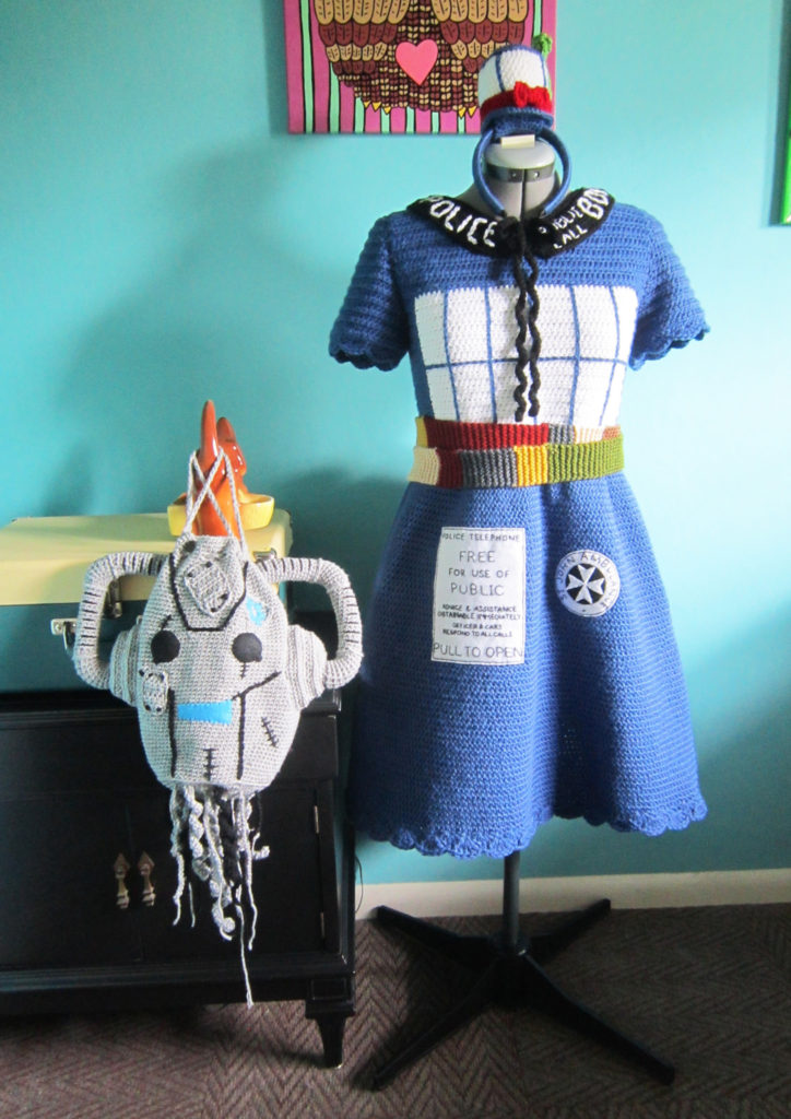 Oh, my Whovians! This Crochet TARDIS Dress will have you shouting, 'Bad Wolf Girl, I could kiss you!'