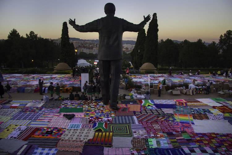 It's Official! Guinness World Record for Largest Crochet Blanket Set By '67 Blankets for Nelson Mandela' Group