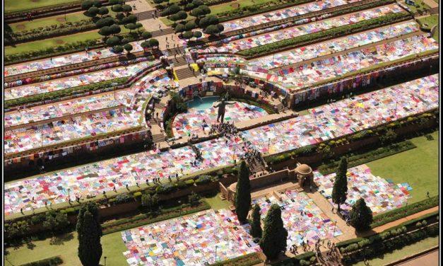 "It's Official! Guinness World Record for Largest Crochet Blanket Set By ""67 Blankets for Nelson Mandela"" Group"