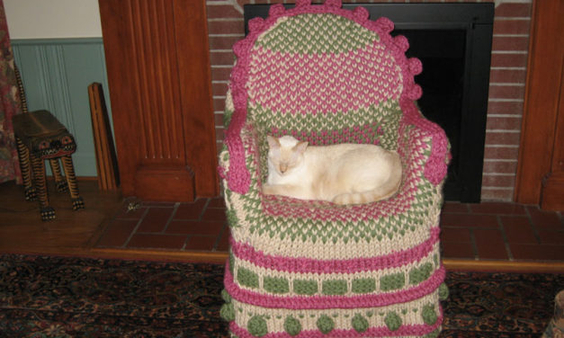 Noreen1009's Fun Take on the Not-So-Ubiquitous Knitted Chair