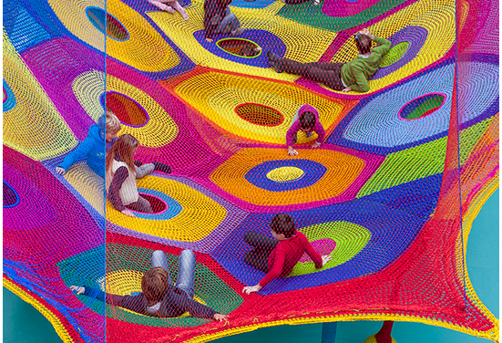 """Harmonic Motion"" — Crochet Playground at Toledo's Museum of Art!"