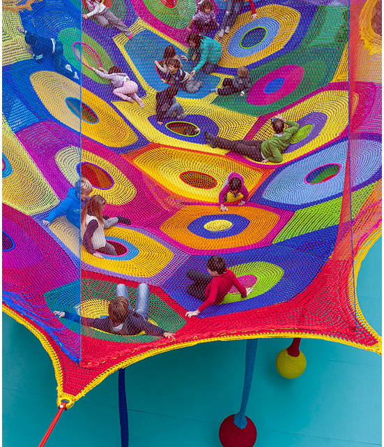 'Harmonic Motion' – Crochet Playground at Toledo's Museum of Art!