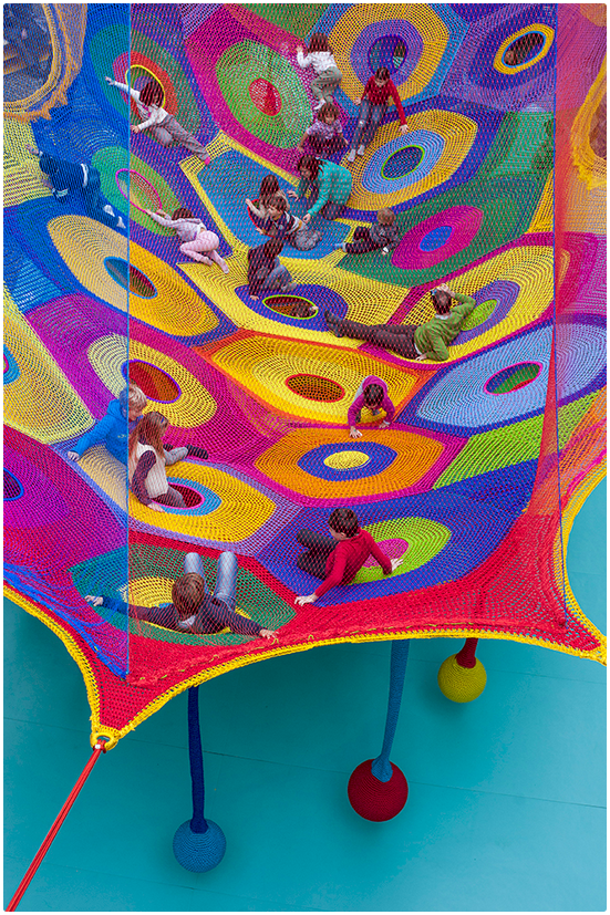 'Harmonic Motion' - Crochet Playground at Toledo's Museum of Art!