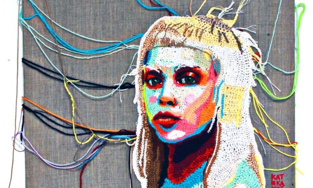 Showstopping Portrait of Yolandi, Crocheted by Katika