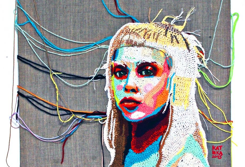 Showstopping Portrait of Yolandi, Crocheted by Katika
