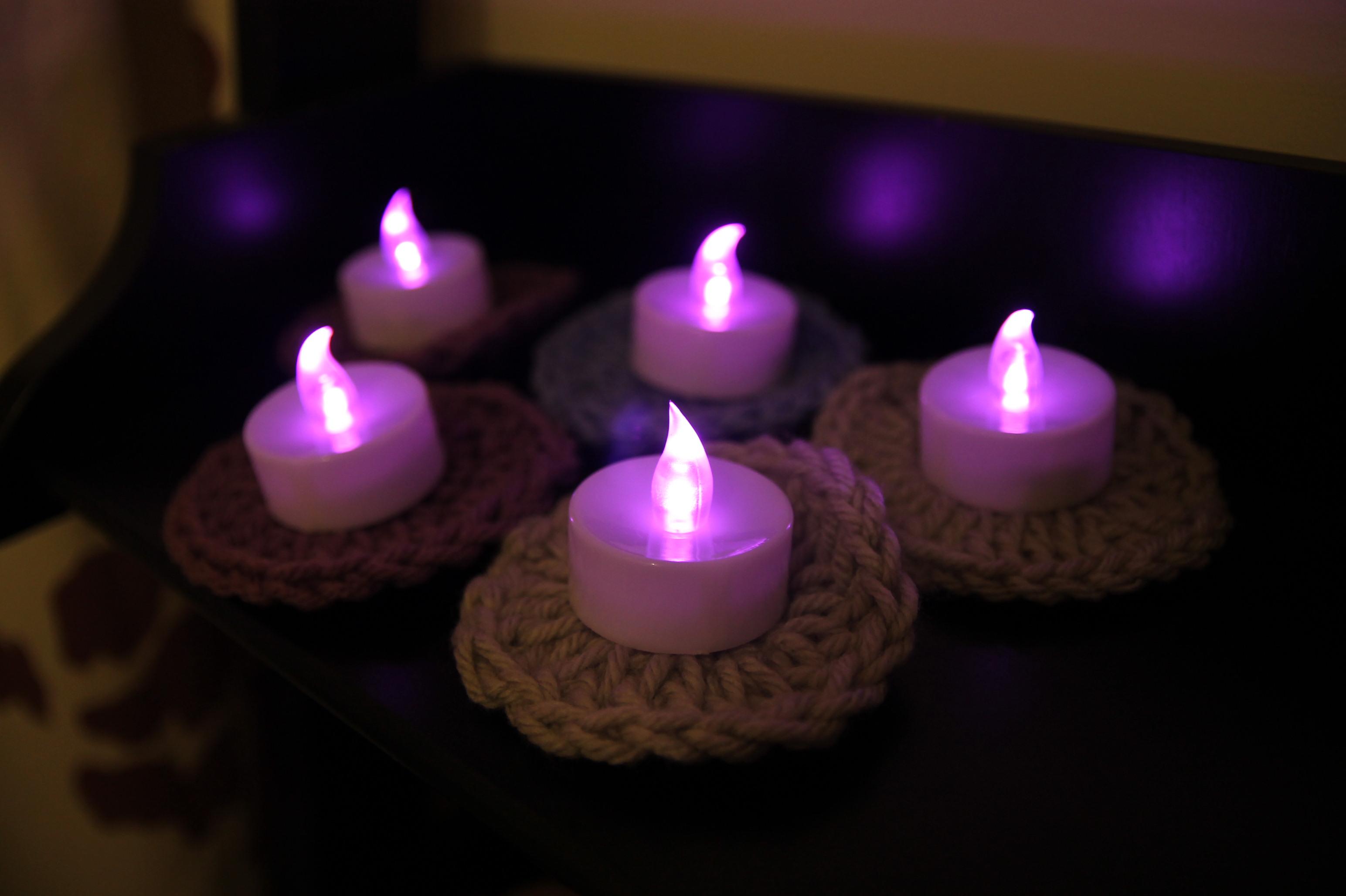 Flameless Tea Light Coasters