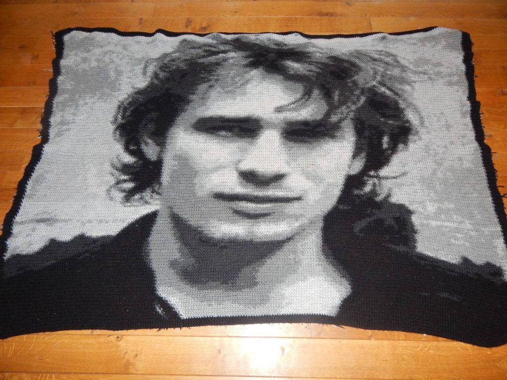 Crochet Jeff Buckley Graphgan Blanket - So Good!