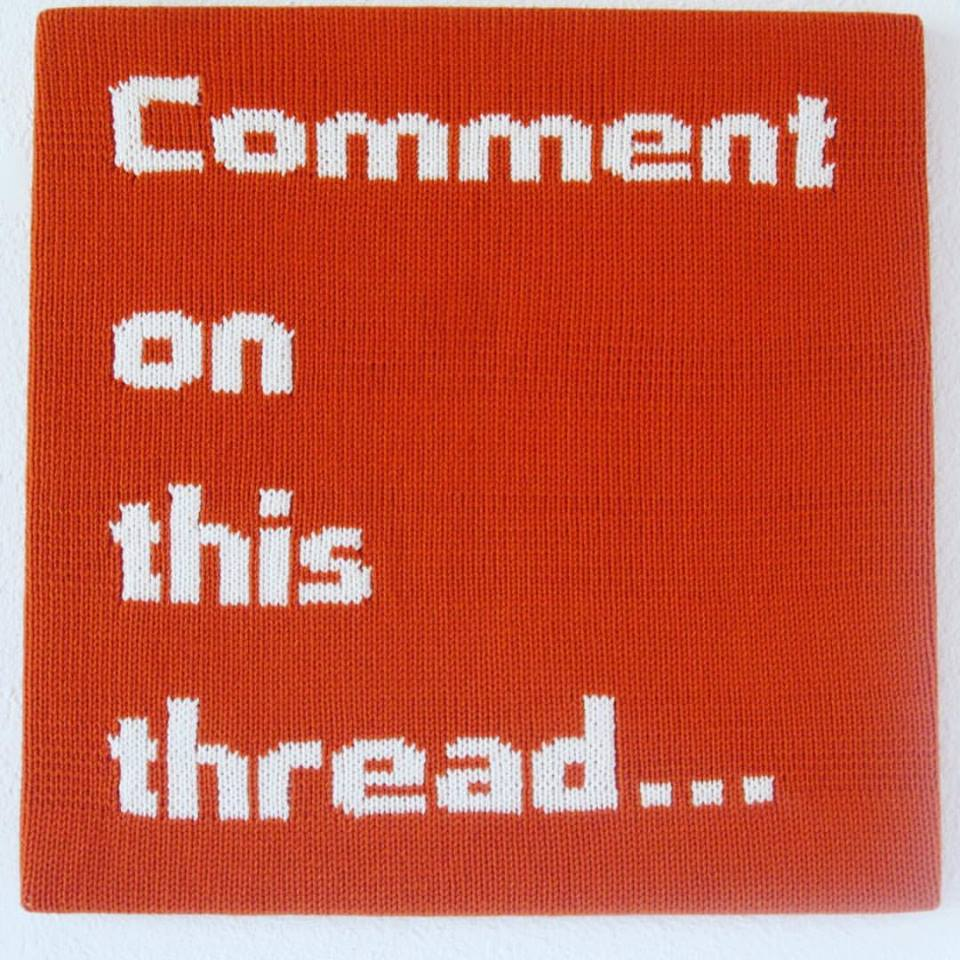'Comment On This Thread ...' Tweetable Wall Hangings by Ben Cuevas